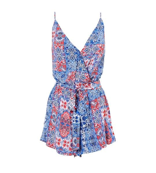Seafolly Spliced Mandala Playsuit - Blue